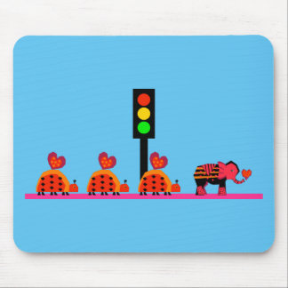 Stoplight with Heart Caravan Mouse Pad