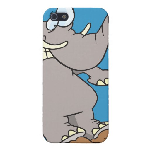 stopped in his tracks silly elephant cartoon case for iPhone 5