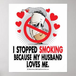 Stopped Smoking Husband Poster