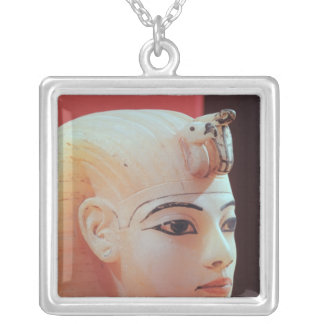 Stopper from one of the canopic urns silver plated necklace