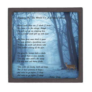Stopping By The Woods by: Robert Frost Jewelry Box