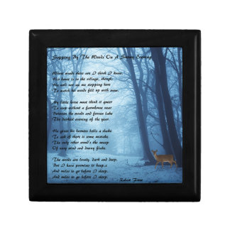 Stopping By The Woods by: Robert Frost Keepsake Box