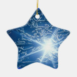 Stopping by the Woods on a Snowy Evening Double-Sided Star Ceramic Christmas Ornament