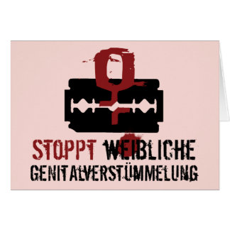 Stoppt weibliche Genitalverstümmelung! Card