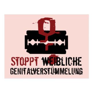 Stoppt weibliche Genitalverstümmelung! Postcard