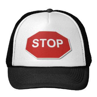 StopSign051409shadows Gorras De Camionero