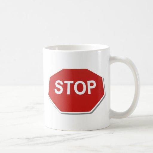StopSign051409shadows Taza De Café