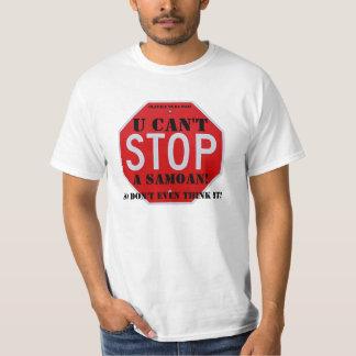 StopSign - small, U Can't, A Samoan!, Ulavale t... T-Shirt