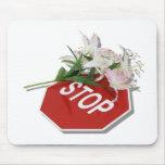 StopSignFlowers051409shadow Alfombrilla De Raton