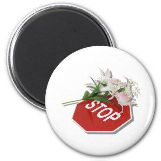 StopSignFlowers051409shadow Fridge Magnets