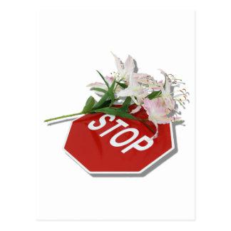 StopSignFlowers051409shadow Postal