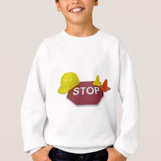 StopSignHardHatSafetyCones091711 Sweatshirt
