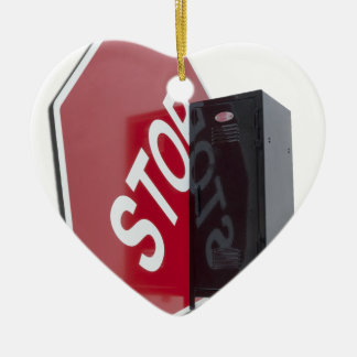 StopSignLocker122312 copy.png Ceramic Ornament