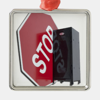 StopSignLocker122312 copy.png Metal Ornament