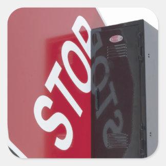 StopSignLocker122312 copy.png Pegatina Cuadrada