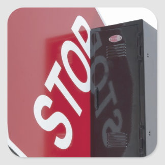 StopSignLocker122312 copy.png Square Sticker