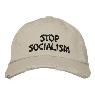 STOPSOCIALISM EMBROIDERED BASEBALL HAT