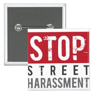 StopStreetHarassmentButton Pin Cuadrado
