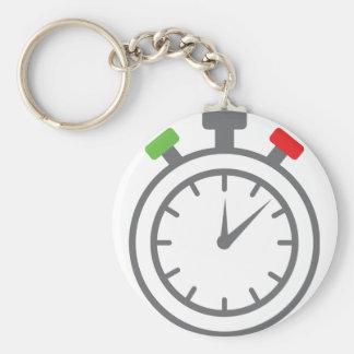 stopwatch - alarm timer basic round button keychain