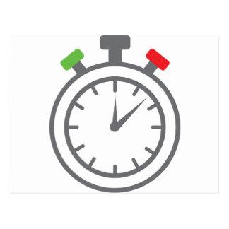 stopwatch - alarm timer postcard