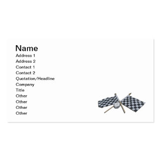 Stopwatch Checkered Flag Double-Sided Standard Business Cards (Pack Of 100)
