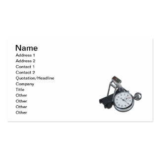 Stopwatch Treadmill Double-Sided Standard Business Cards (Pack Of 100)