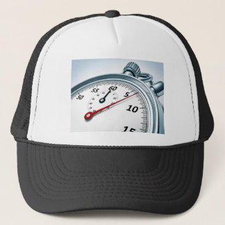 stopwatch trucker hat