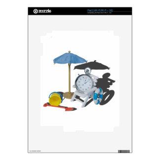 StopWatchBeachChairUmbrella101115 Skin Para El iPad 2