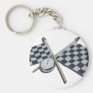 StopwatchCheckeredFlags111112 copy.png Basic Round Button Keychain