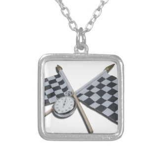 StopwatchCheckeredFlags111112 copy.png Custom Necklace