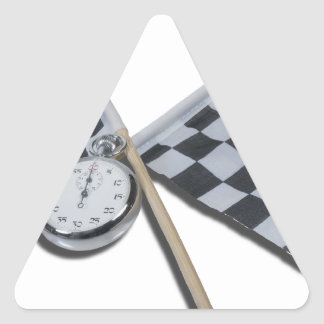 StopwatchCheckeredFlags111112 copy.png Pegatina Triangular