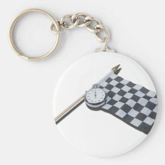 StopwatchRacingFlag111112 copy.png Basic Round Button Keychain