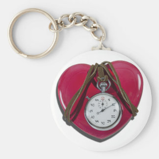 StopwatchRedHeart111112 copy.png Basic Round Button Keychain