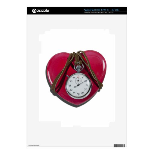 StopwatchRedHeart111112 copy.png iPad 3 Pegatinas Skins