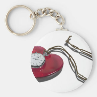 StopwatchRedHeartCord111112 copy.png Basic Round Button Keychain