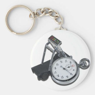 StopwatchTreadmill111112 copy.png Basic Round Button Keychain