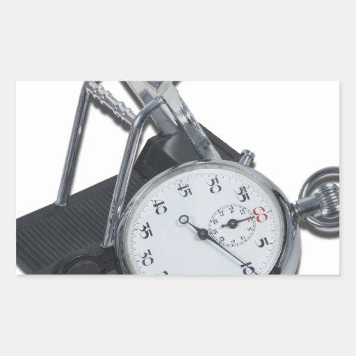 StopwatchTreadmill111112 copy.png Pegatina Rectangular