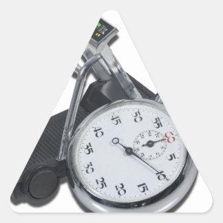 StopwatchTreadmill111112 copy.png Pegatina Triangular