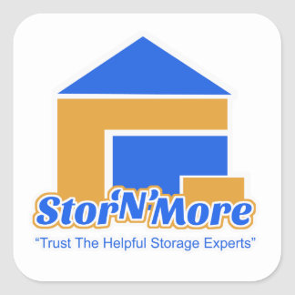Stor N More Storage Logo Square Sticker