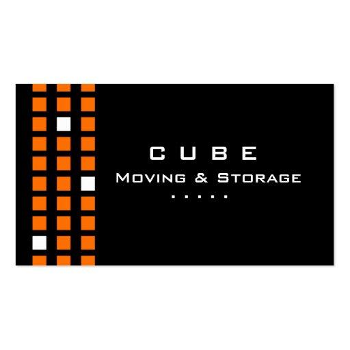 Storage Business Card Box Black Orange