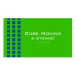 Storage Business Card Box Blue Green