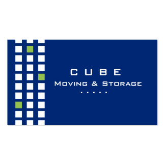 Storage Business Card Box Blue White Green
