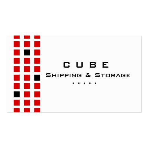 Storage Business Card Box White Red Black