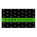 Storage Business Card Cube Box Black Green 3D