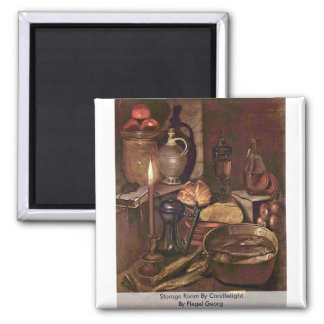 Storage Room By Candlelight By Flegel Georg Fridge Magnet