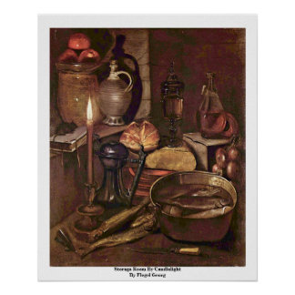 Storage Room By Candlelight By Flegel Georg Print