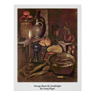 Storage Room By Candlelight By Georg Flegel Posters