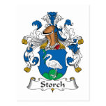 Storch Family Crest Post Card