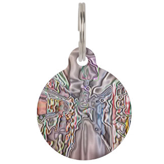 Store abstract pattern pet name tag