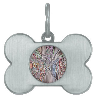 Store abstract pattern pet ID tags